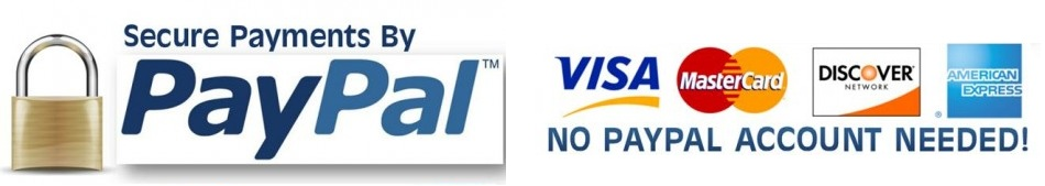 PayPal and VISA secured payments